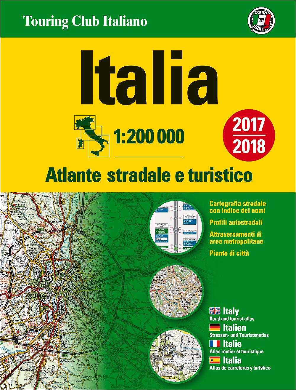 Atlante stradale d'Italia Nord, Centro, Sud 1:200.000 - Cofanetto