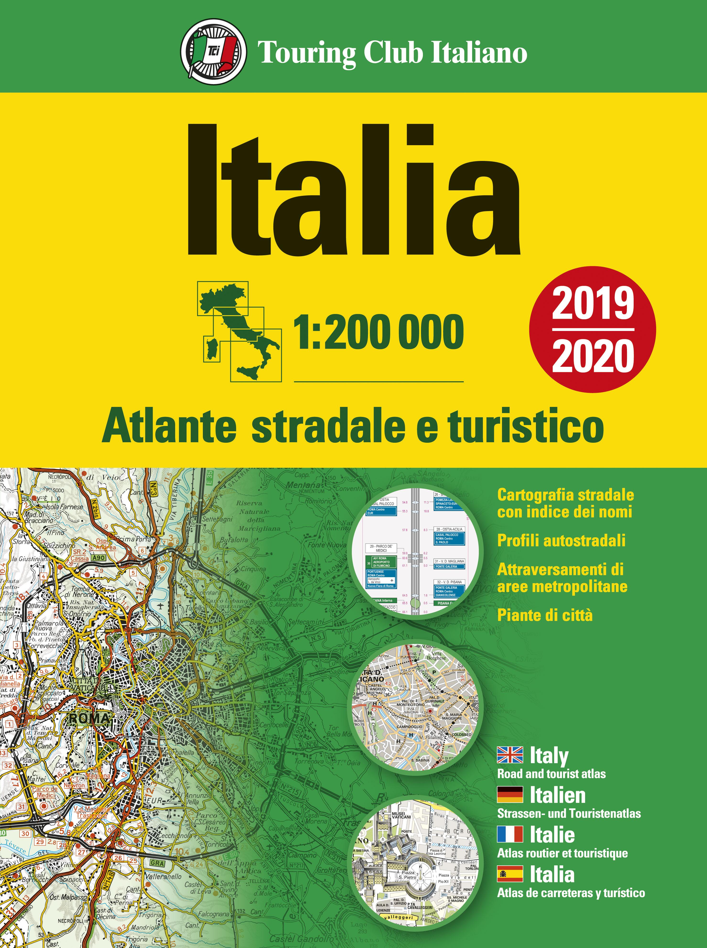 Atlante stradale d'Italia Nord, Centro, Sud 1:200 000 - Cofanetto